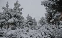 The first snowfall of the season occurs in Diyarbakir