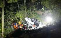 At least 27 dead, 39 injured after Indonesia bus carrying students plunges into ravine