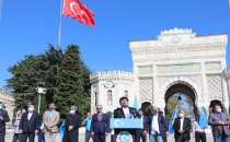 A protest held in Istanbul on the 71st anniversary of East Turkestan occupation by China