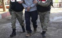 A YPG/PKK member surrenders to security forces in southeastern Turkey