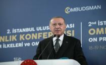 Erdoğan makes a speech at International Ombudsman Conference