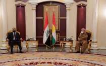 Iraqi PM Mustafa Kadhimi arrives in Erbil