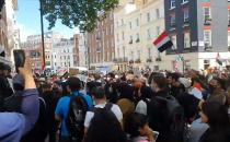 Yemen protest at the BBC building in central London