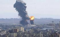 Zionist regime's airstrikes target different areas of Gaza