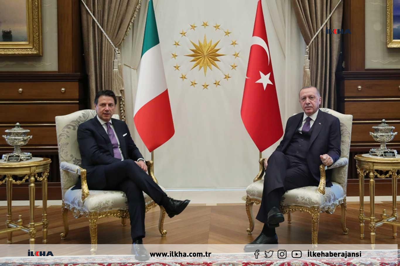 Erdoğan meets with Prime Minister Conte of Italy